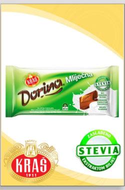 DORINA STEVIA mlečna čokolada